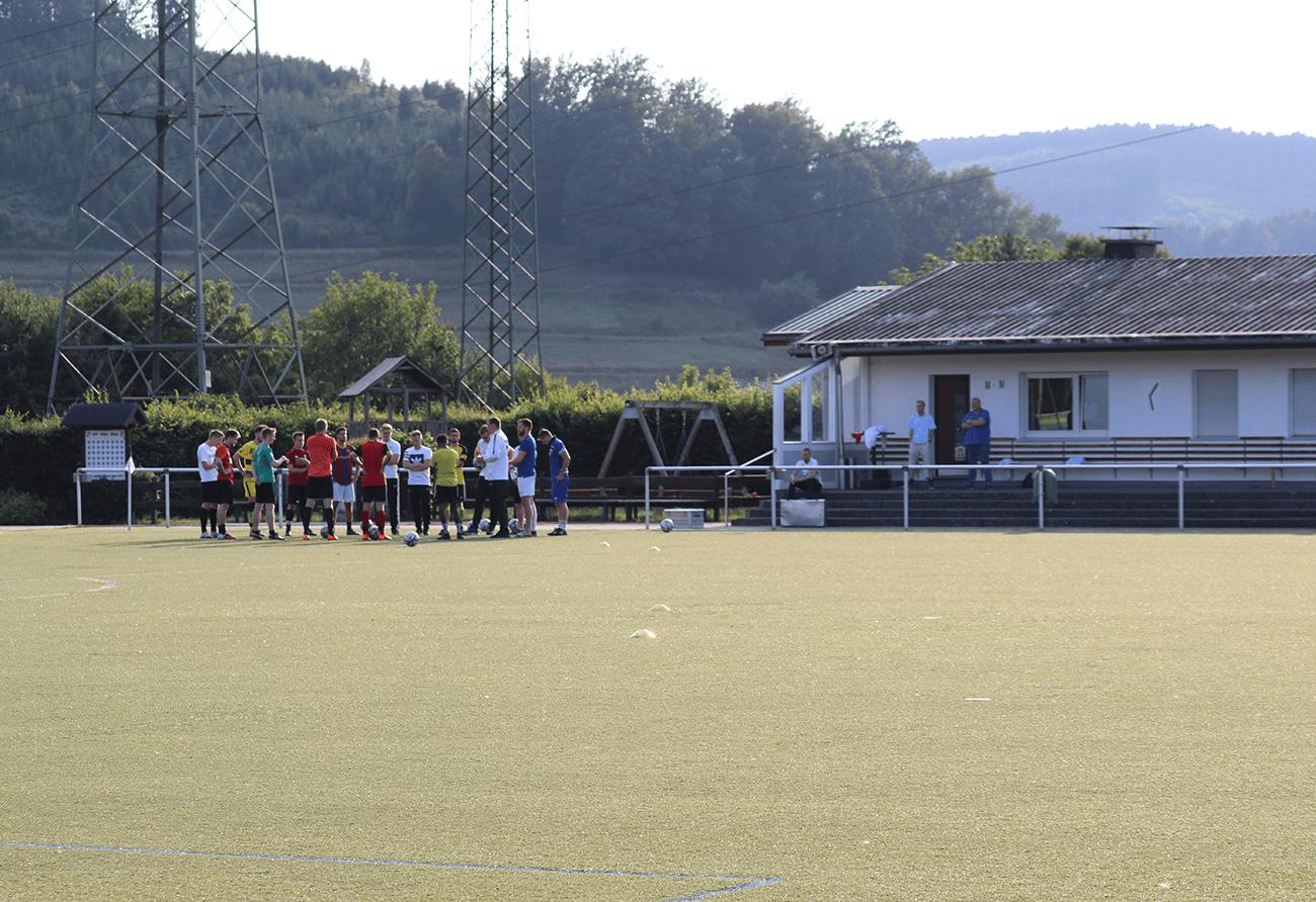 1.Mannschaft beim Training